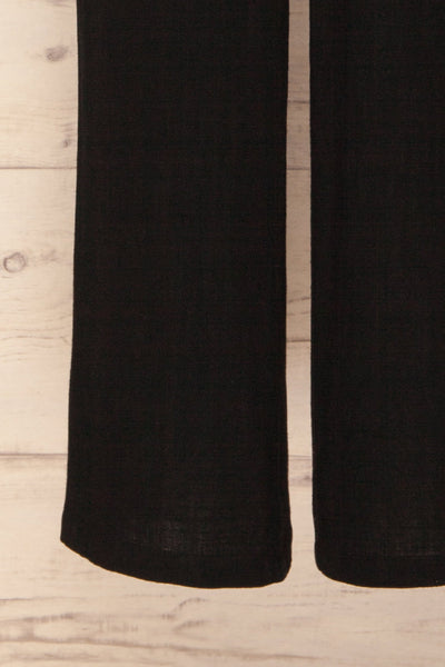 Canitas Coal Black Linen Jumpsuit with Buttons | La Petite Garçonne 7