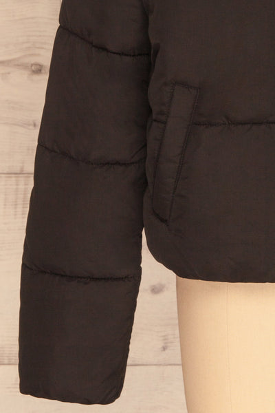 Canonero Black Cropped Puffer Jacket | La petite garçonne bottom