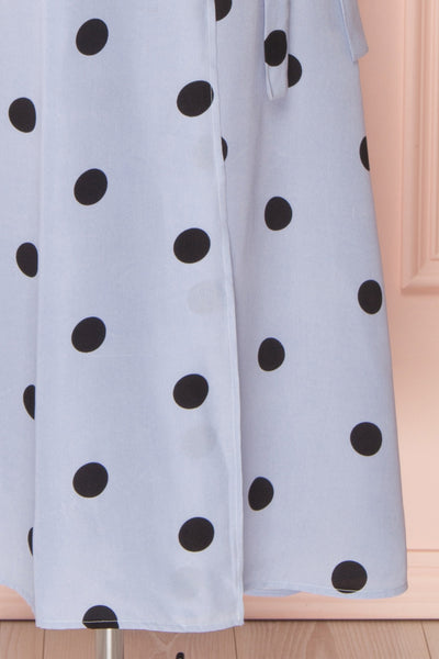 Capselle Lavender Polka Dot Midi Wrap Dress | Boutique 1861 skirt