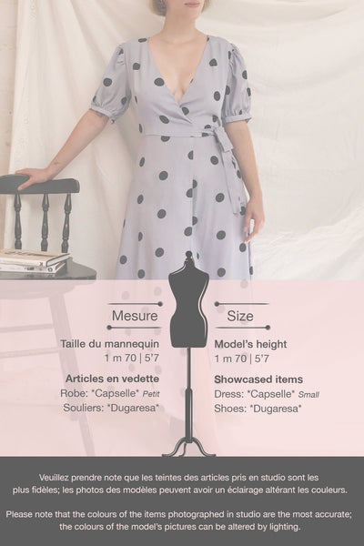 Capselle Lavender Polka Dot Midi Wrap Dress | Boutique 1861 template