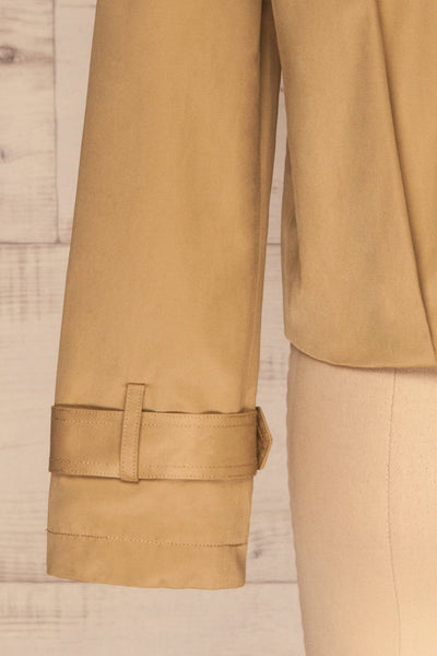 Capsol Light Khaki Short Trench Jacket sleeve back | La petite garçonne