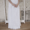 Dalla | White Sequins Patterned Gown