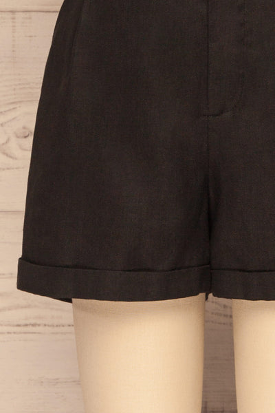 Capzol Pepper Black High Waist Shorts | La petite garçonne bottom