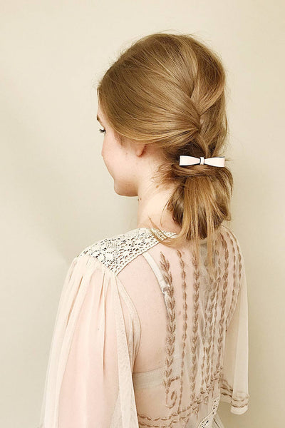 Caranna Douceur - Hair elastic with pale pink bow 2