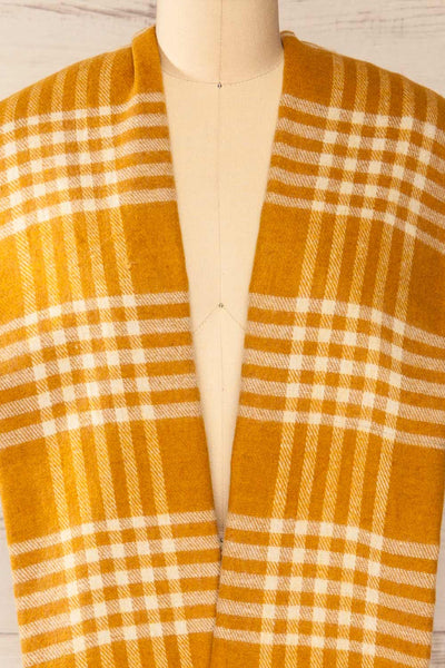 Caravane Yellow Soft Knitted Scarf | La petite garçonne long close-up