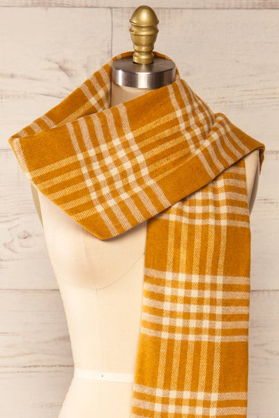 Caravane Yellow Soft Knitted Scarf | La petite garçonne close-up