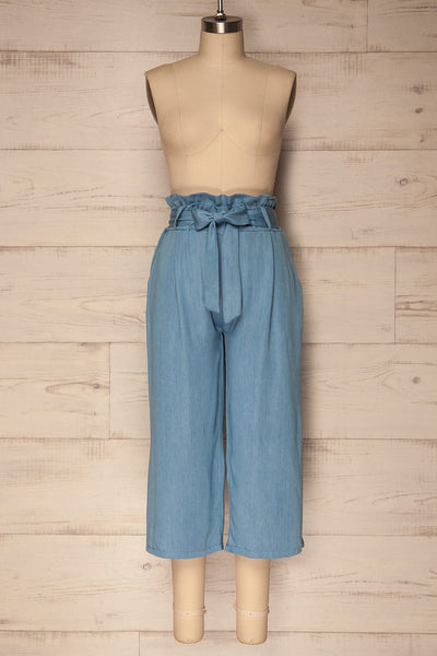 Carepas Light Blue Lightweight Cropped Pants | La Petite Garçonne