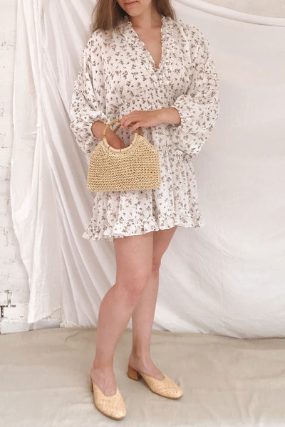 Carling White Floral Long Sleeve Dress | Boutique 1861 model look
