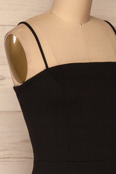 Carlisle Black Party Dress | Robe Noire | La Petite Garçonne side close-up