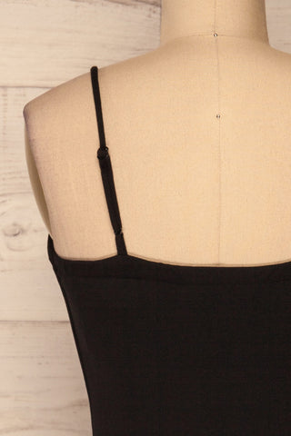 Carlisle Black Party Dress | Robe Noire | La Petite Garçonne back close-up