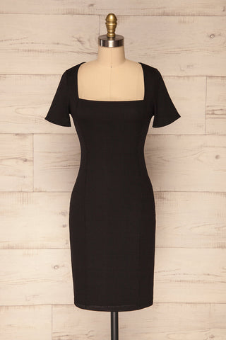 Carvoeiro Black Fitted Cocktail Dress | La Petite Garçonne