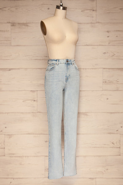 Cascada Light Denim Straight Leg Jeans | La petite garçonne side view