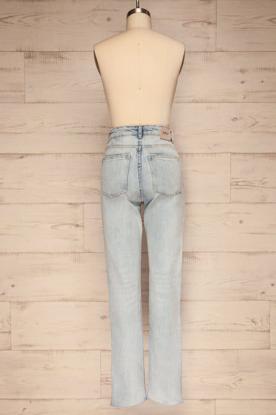 Cascada Light Denim Straight Leg Jeans | La petite garçonne back view