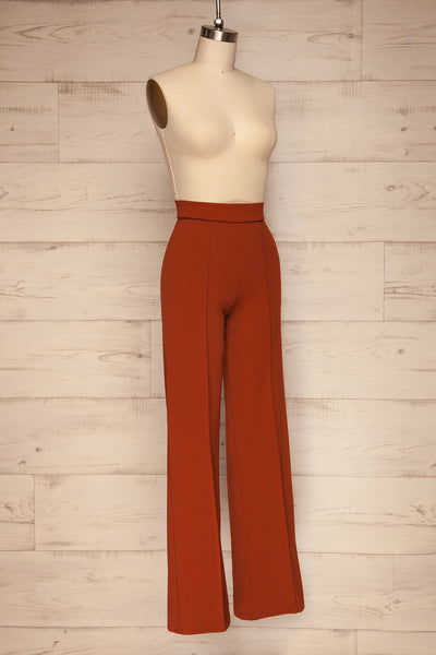 Casita Rust Orange High Waisted Pants side view | La petite garçonne