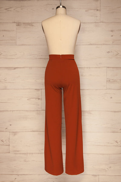 Casita Rust Orange High Waisted Pants back view | La petite garçonne