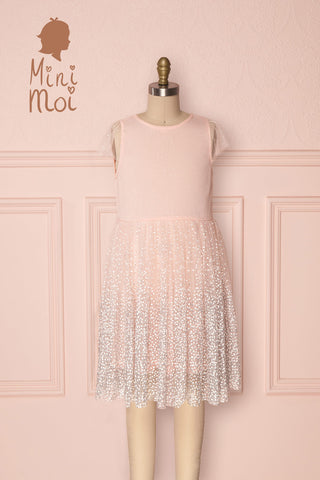 Catelya Mini Kids A-Line Light Pink Party Dress | Boutique 1861
