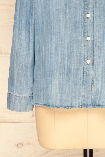 Catforth Denim Blue Shirt with Cat Embroidery | La Petite Garçonne 9
