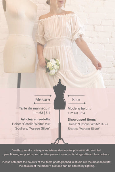 Catolie White Layered Midi Dress w/ Frills | Boutique 1861 template
