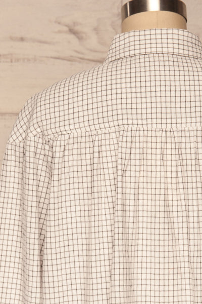 Cavertul White & Black Checkered Shirt back close up | La petite garçonne