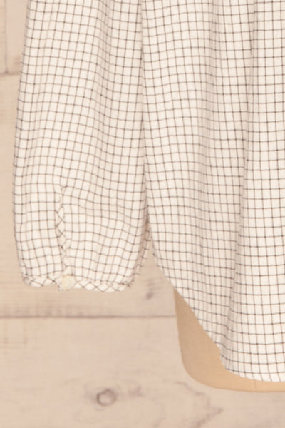 Cavertul White & Black Checkered Shirt sleeve | La petite garçonne