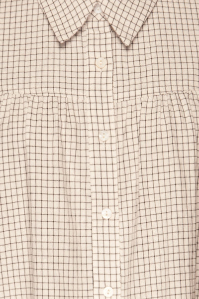 Cavertul White & Black Checkered Shirt fabric | La petite garçonne
