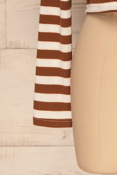 Cedovim Brown & Ivory Striped Crop Top | La Petite Garçonne 7