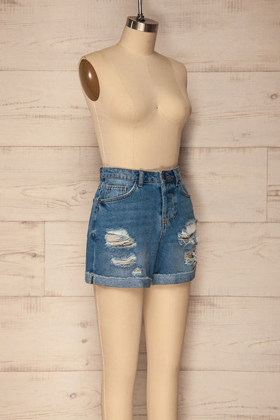 Cernuc Light Blue High Waisted Denim Shorts | La Petite Garçonne 3
