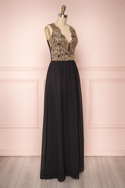 Chalva Black | Chiffon Dress