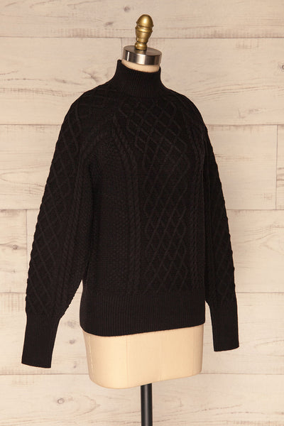 Chimay Anis Black Knit Sweater  | SIDE VIEW | La Petite Garçonne