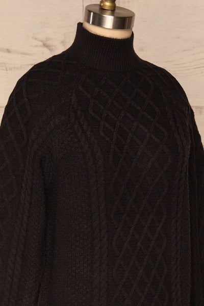 Chimay Anis Black Knit Sweater | SIDE CLOSE UP | La Petite Garçonne