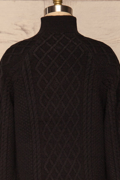 Chimay Anis Black Knit Sweater  | BACK CLOSE UP  | La Petite Garçonne