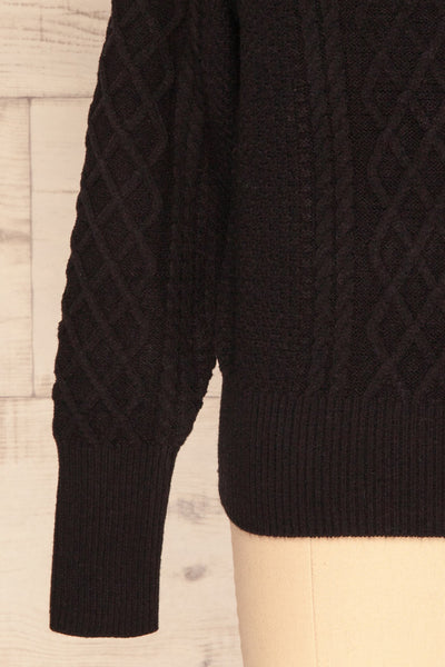 Chimay Anis Black Knit Sweater  | BOTTOM  CLOSE UP | La Petite Garçonne