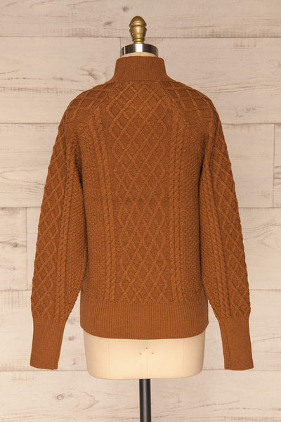 Chimay Muscade Brown Knit Sweater  | BACK VIEW | La Petite Garçonne