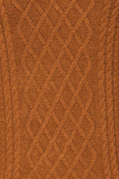 Chimay Muscade Brown Knit Sweater  | TEXTURE DETAIL | La Petite Garçonne