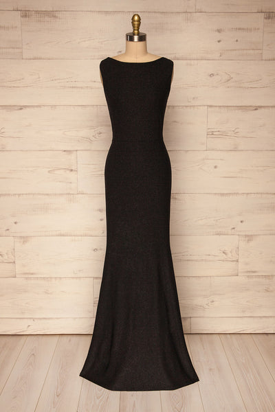 Chimborazo Black Mermaid Maxi Dress | La petite garçonne front view