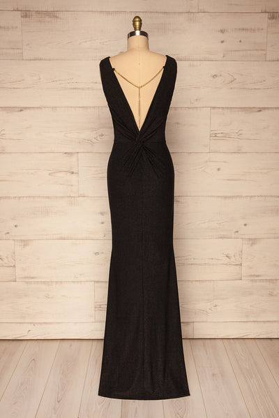 Chimborazo Black Mermaid Maxi Dress | La petite garçonne back view