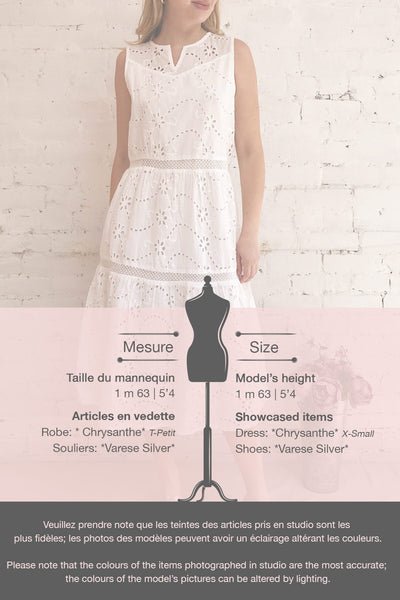 Chrysanthe White Openwork Lace Short Dress | Boutique 1861 template