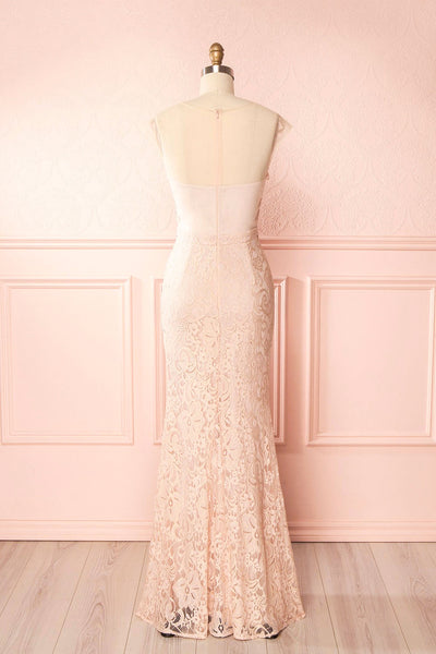 Cléa Blush Lace Mermaid Gown | Boudoir 1861