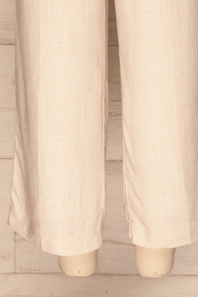 Corato Beige High Waist Wide Leg Pants | La petite garçonne  bottom