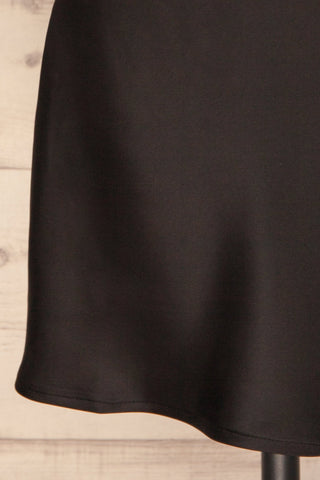 Cosenza Black Slip Dress | Robe Noire | La Petite Garçonne bottom close-up