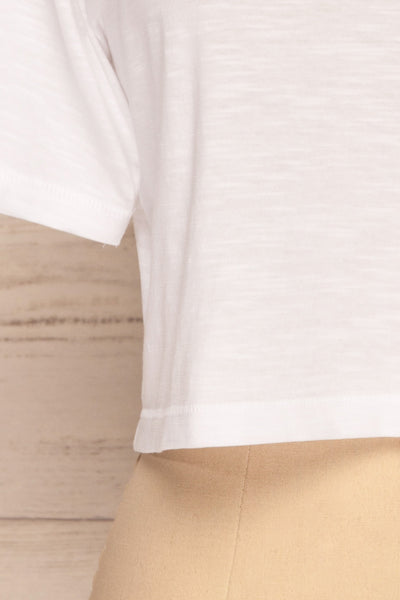Cottbus White Short Sleeve Crop Top | La petite garçonne bottom