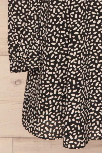 Courtney Black and White Short Dress | La petite garçonne bottom close-up