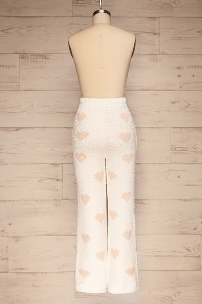 Craiova White Hearted Fuzzy Pants | La petite garçonne back view