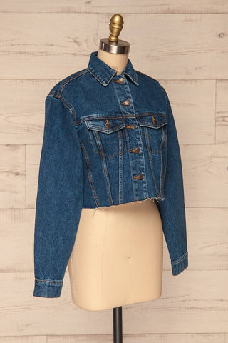 Cransac Crop Jean Jacket | Veston Denim | La Petite Garçonne side view