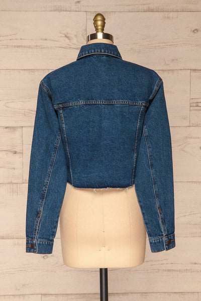 Cransac Crop Jean Jacket | Veston Denim | La Petite Garçonne back view
