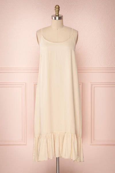 Criosa Beige Soft Slip Dress | Boutique 1861