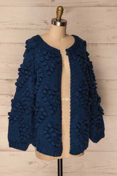 Cunski Oversized Dark Blue Knit Open Jacket | La Petite Garçonne 4