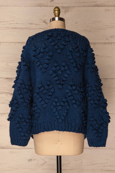 Cunski Oversized Dark Blue Knit Open Jacket | La Petite Garçonne 6