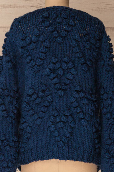 Cunski Oversized Dark Blue Knit Open Jacket | La Petite Garçonne 7