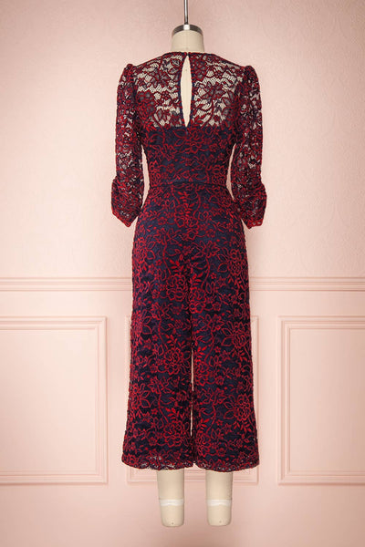 Daaimanti Red & Navy Blue Lace Jumpsuit | Boutique 1861 back view